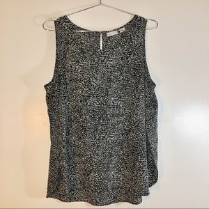Liz Claiborne Sleeveless Scoop Neck Blouse Size XL